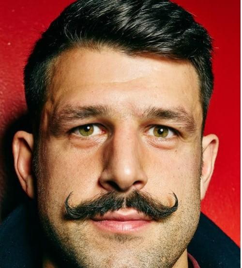 A Thin Wisp Mustache Men Style