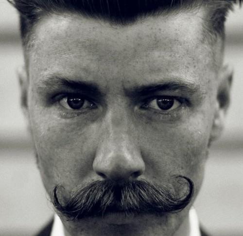 Asymmetrical Mustache Style