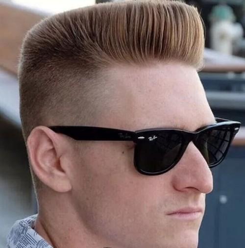Blunt Blonde - Flat Top Men Hairstyle