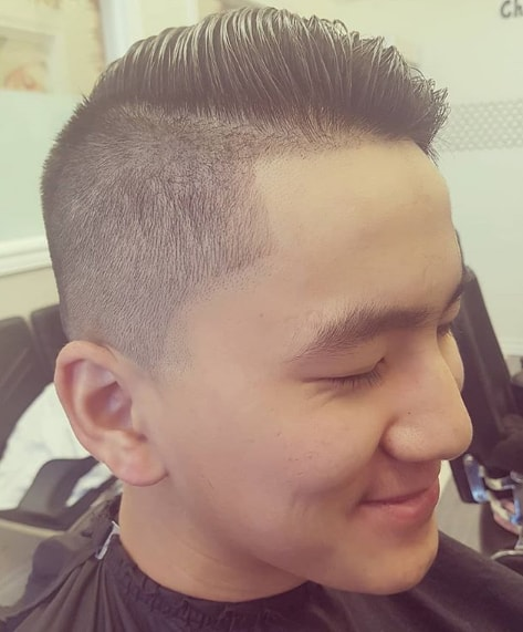 Comb Over High Fade Haircut