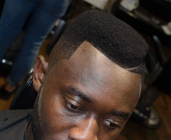 Flat Top Haircut with Part