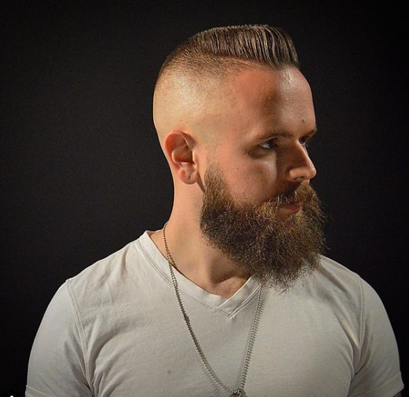 Tapper Fade with Flat Top Men Hairstyle