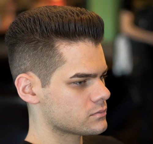 Flat Top with Back Men Hairstyle