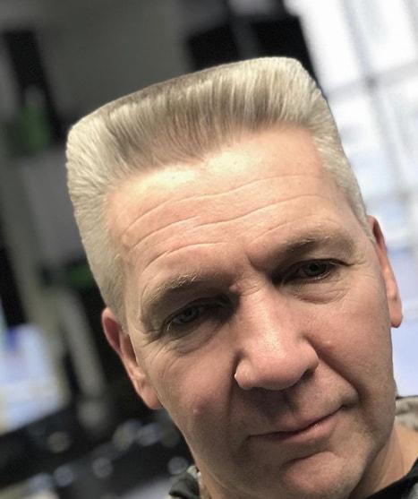 Cool military flat top men haircut