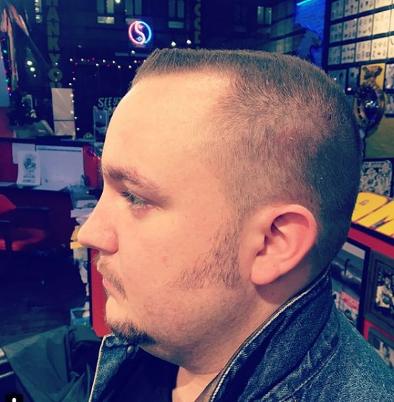 Flat Top military haircut