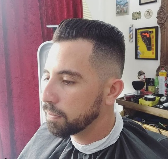 Combover Flat top with High Fade