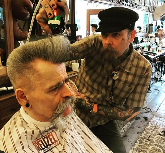 Front Long Quiff Flat Top men Hairstyle