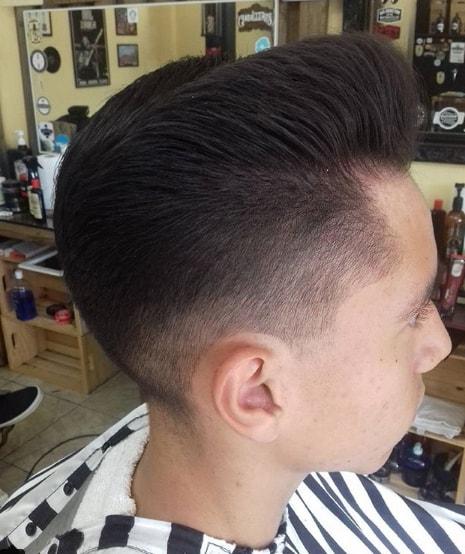 Pompadour Flat Top Men Hairstyle