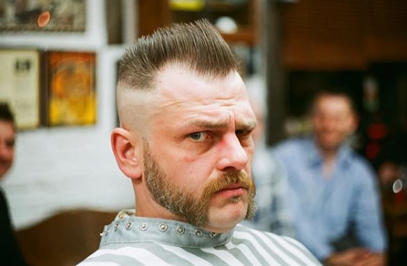 mutton chops with flat top hairsytle