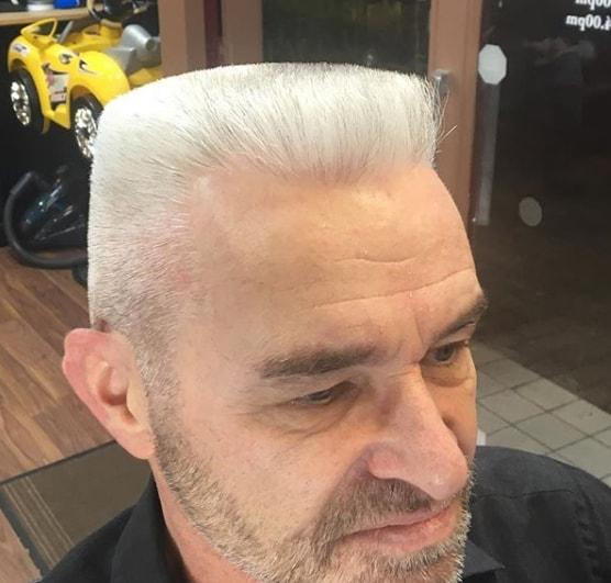 Short Flat Top White Hairs