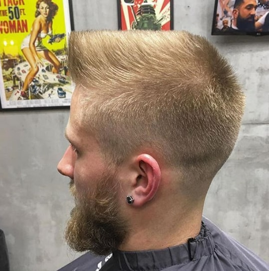Faux Hawk With Flat Top Men Hairstyle