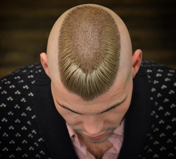 Funky Flat Top Mohawk Men Hairstyle