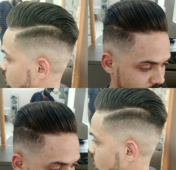 Burshed Back Flat Top Men Hairstyle