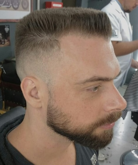 Military style with Flat Top Men hairstyle