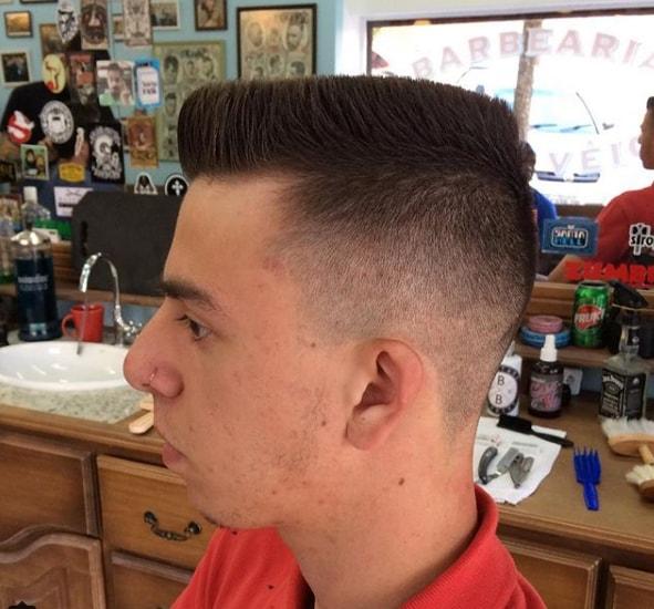 Flat top haircut for straight hair