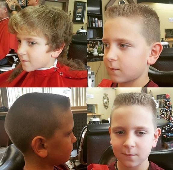 Undercut with Short Flat Top Boy Haircut