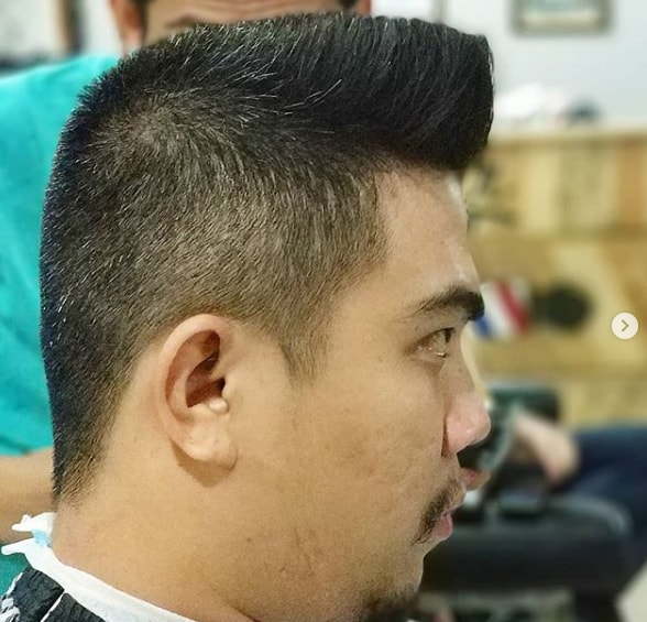 Slanted Flat Top Hairstyle for Men