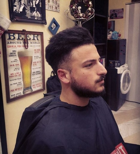 Flat Top Messy Look Hairstyle for Men