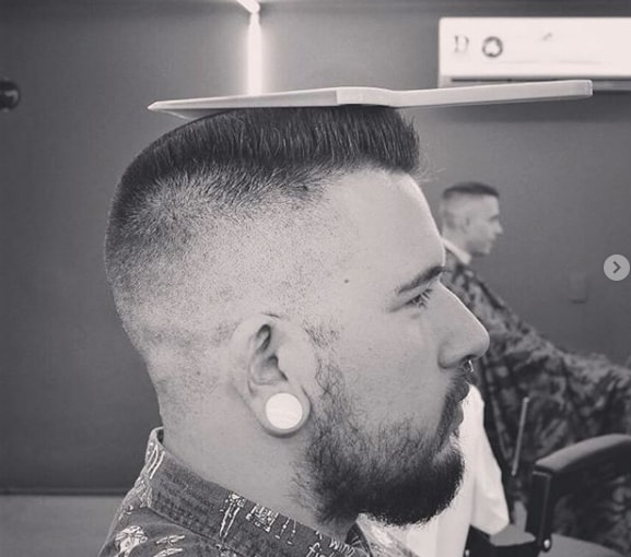Undercut and Beard with Flat Top for Men