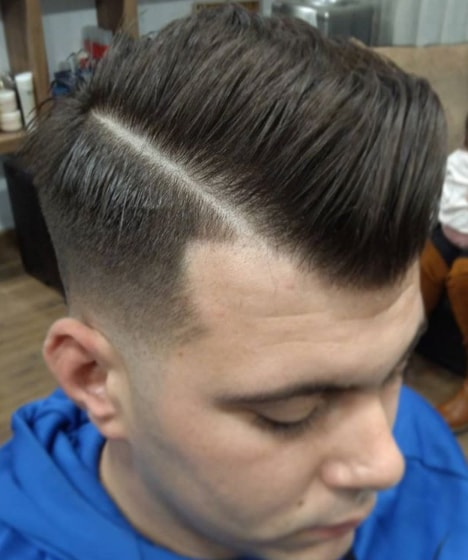 Side Swept Flat Top hairstyle