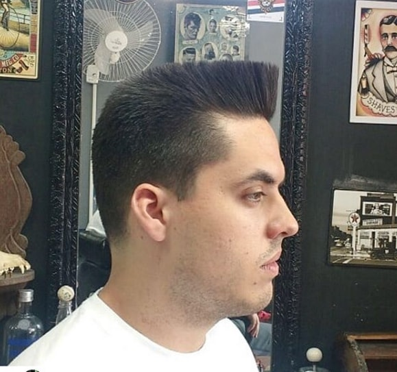 Flat Top Hairstyle with Faded