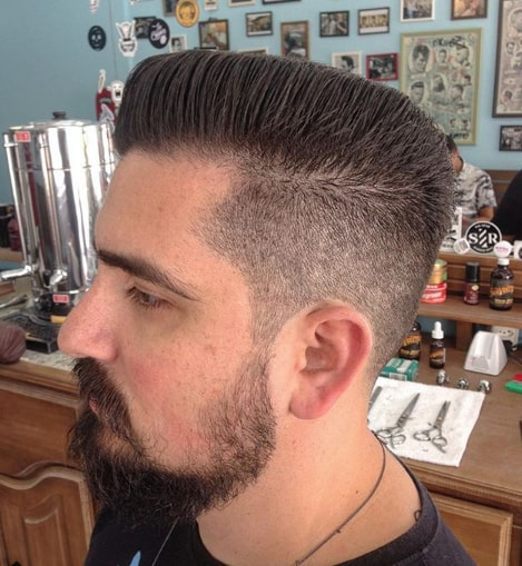 Flat Top with Side Swept Men hairstyle