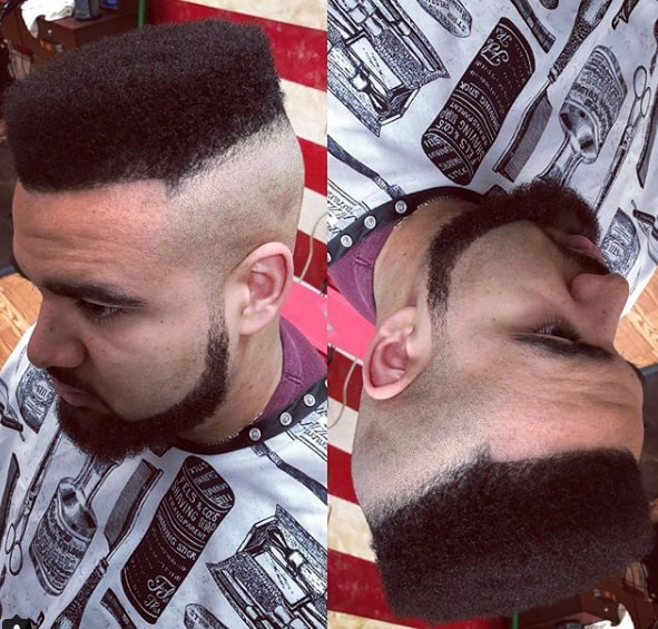 Shaved Sides with Flat Top Men Hairstyle