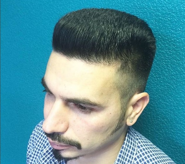 Mid Flat Top Men Hairstyle