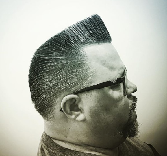 Flat Top Men Hairstyle for Chubby Men