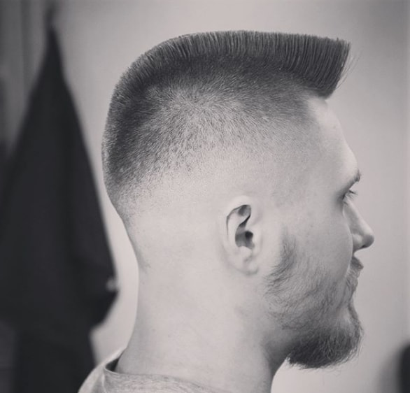 Crew Cut with Flat Top Men Hairstyle