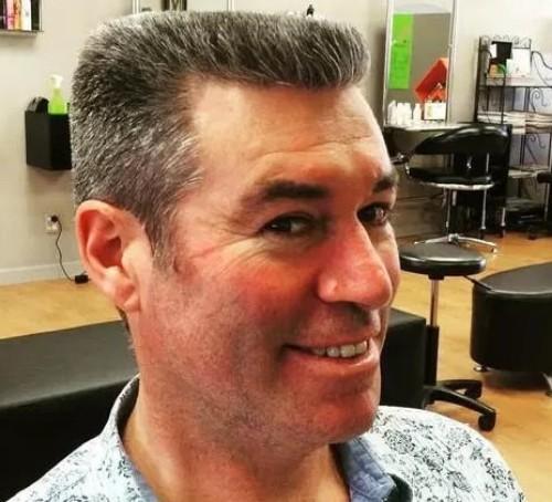 Gray Flat Top Men hairstyle