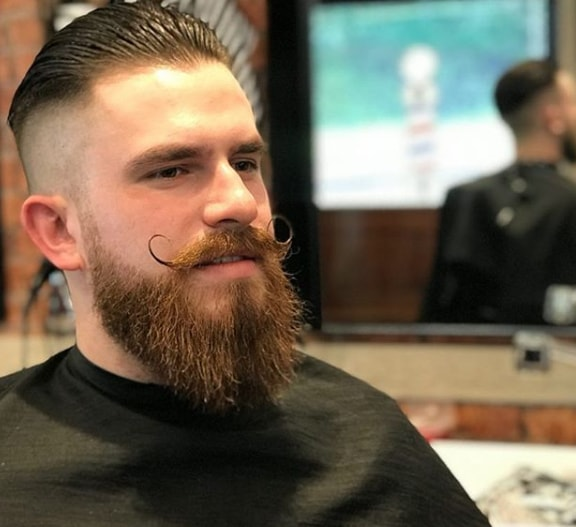 End Curl Handlebar Mustache Style for Men