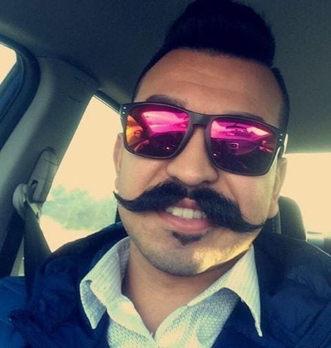 Straight Ends Handlebar Mustache