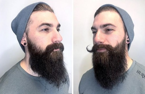 Round Up Thick Handlebar Mushtache for Men with Long Beard