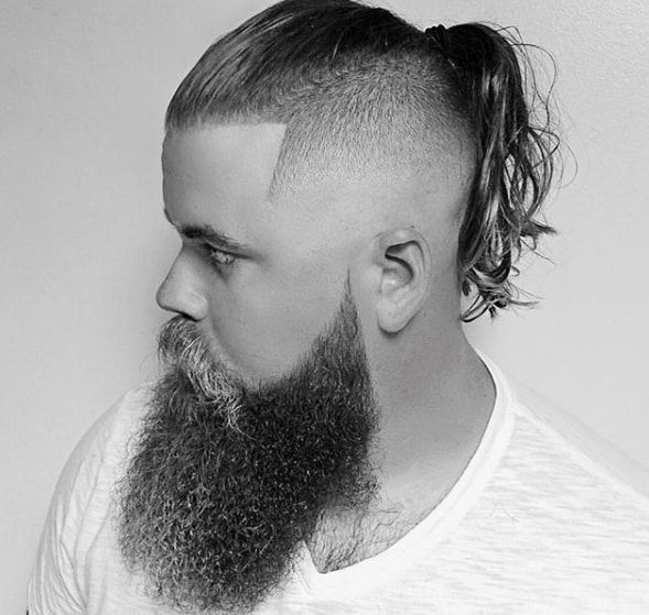 Long Hair Undercut Viking Chic Men Hairstyle