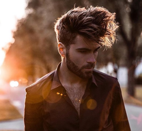 Simple Long Hairstyles for Men and Beard