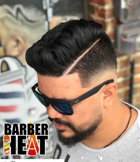 Low Fade Comb Over Haircut