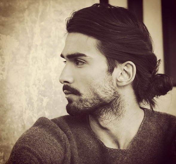 Low Man Bun Hairstyle