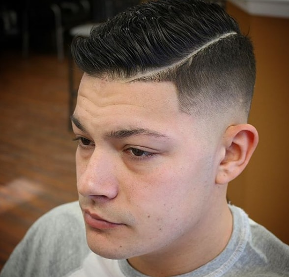 Low Taper Fade Comb Over