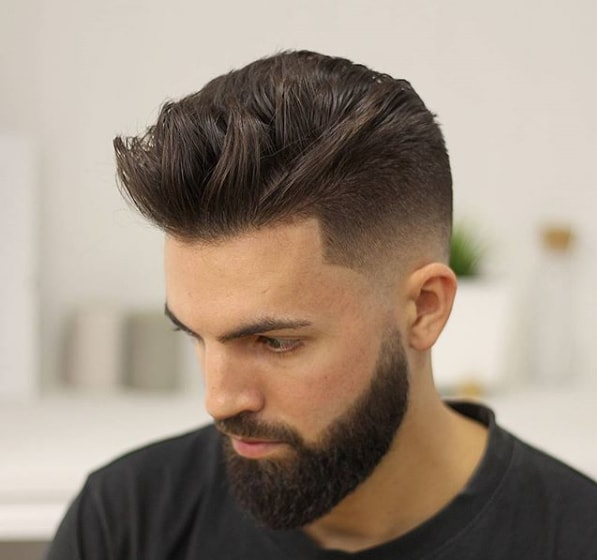 Medium Length Textured Haircut For Men