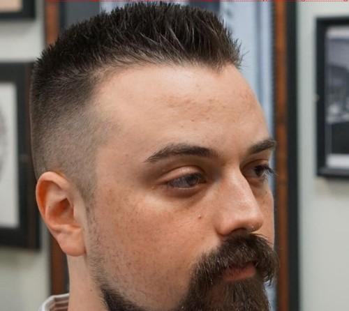 Medium Spiky Flat Top for Men