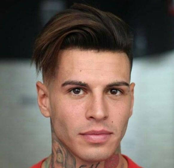 Side Parted with High Fade Men hairstyle