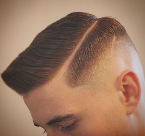 Mid Fade Comb Over Haircut for Men