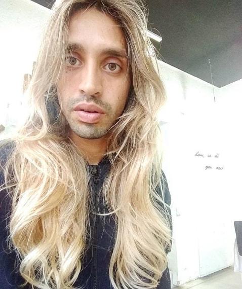 Long Grown Blonde Hair