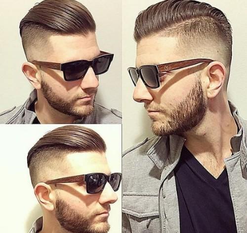 Ooozing Slid Back Men Hairstyle