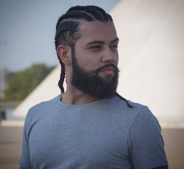 Cornrows With Beard