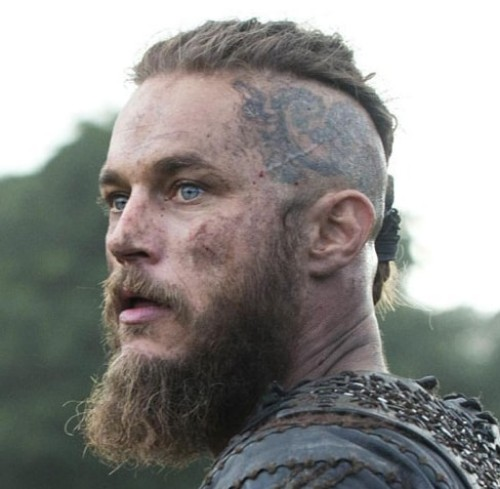 Warrior Look With Short Pony Ragnar Lothbrok Hairstyle