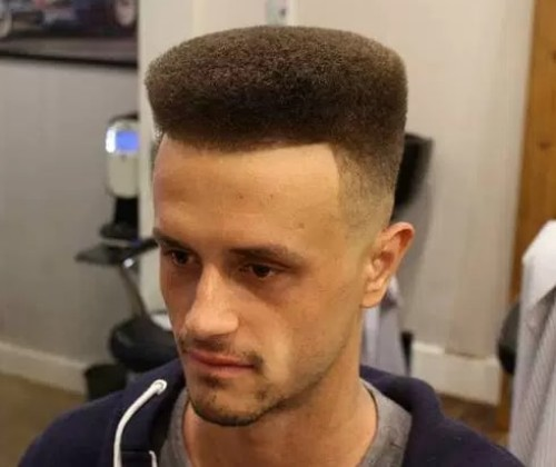Rounded Flat Top Men Haircut