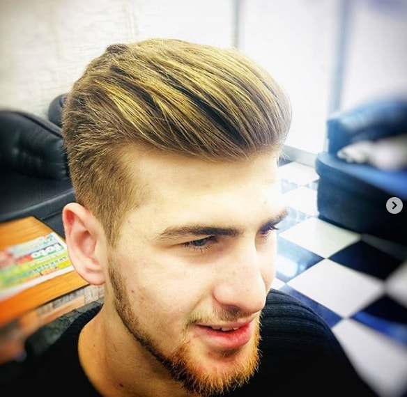 Short Pompadour Men Hairstyle