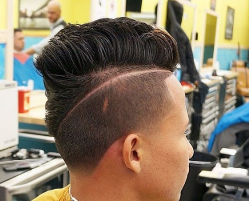 Side Groove with Flat Top Men Hairstyle